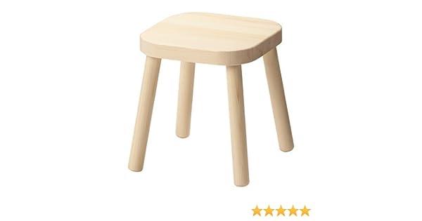 Taburete de madera maciza para niños Flisat de Ikea (31 cm): Amazon.es: Hogar