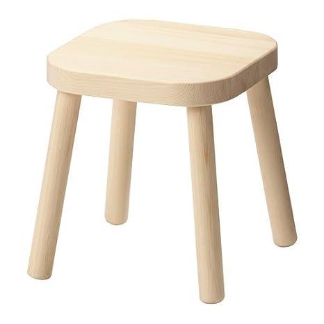 Ikea Flisat, sgabello per bambini in legno massello; (31 cm): Amazon ...