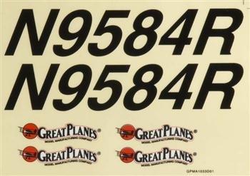 Great Planes Decal Sheet Cherokee .40 ARF