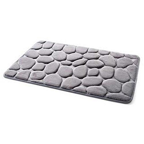 XHSP 3D Cobblestone Memory Foam Door Entrance Mats Living Room Bedroom Kitchen Bathroom Non-slip Area Rugs Doormats,40x60cm/16