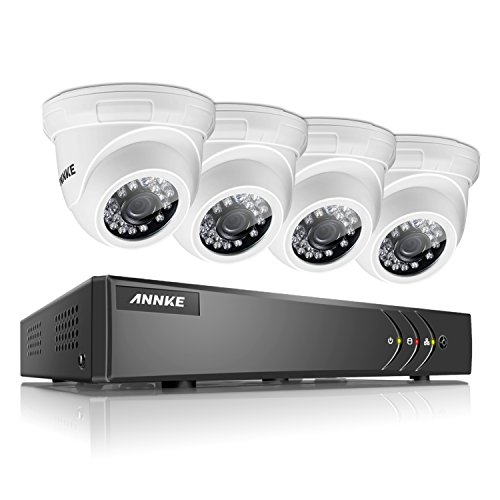 ANNKE 4CH Security System 1080N Video Recorder and  1280TVL