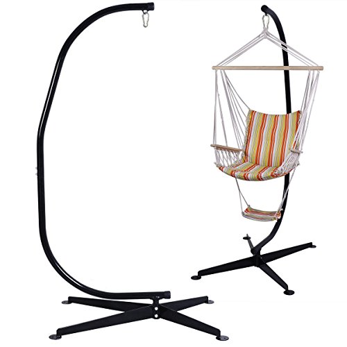 - GJH One Hammock Chair Stand Solid Steel C Frame Construction Air Porch Swing