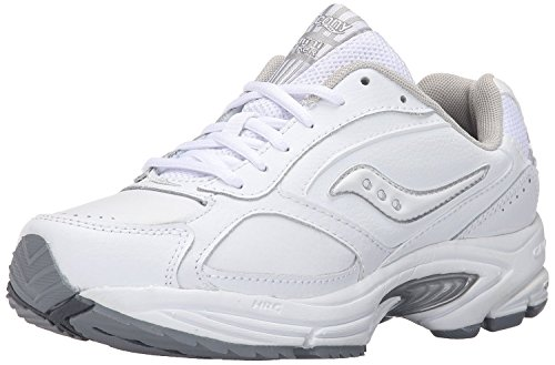 Saucony Women's Grid Omni Walker-W, White/Silver, 36 W EU/3.5 W UK