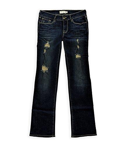Bullhead Denim Co. Womens Destroyed Boot Cut Jeans 326Starlight 5/6X31