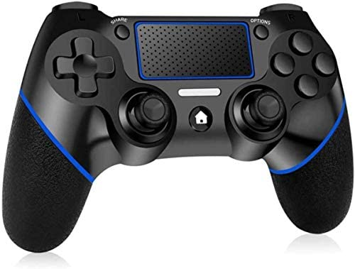 PUNWEOS Wireless Controller for PS4, Game Controller with Gyro/HD Dual Vibration/Touch Panel/LED Indicator Gamepad Remote Joystick for PS4/Pro/Slim(Blue)
