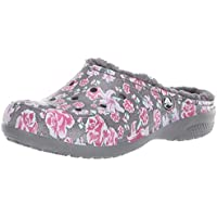 Crocs Women's Freesail Floral Lined Clog | Indoor Outdoor Warm and Fuzzy Shoe or Slipper