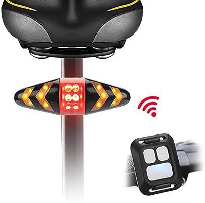 LIDIWEE Luz trasera para bicicleta, luces LED intermitentes para bicicleta, control remoto inalámbrico, impermeable, luz de advertencia de seguridad trasera para bicicleta de montaña, bicicleta de carretera, bicicleta de triatlón, bicicleta híbrida,