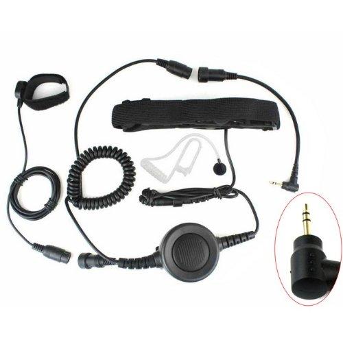 Dual Ear Under Helmet Headset - 1Pin Heavy Duty PTT Throat OR Forehead Vibration MIC for Motorola Radio 2.5mm T6200 T6210 T6220 T6250 T6300 T7200