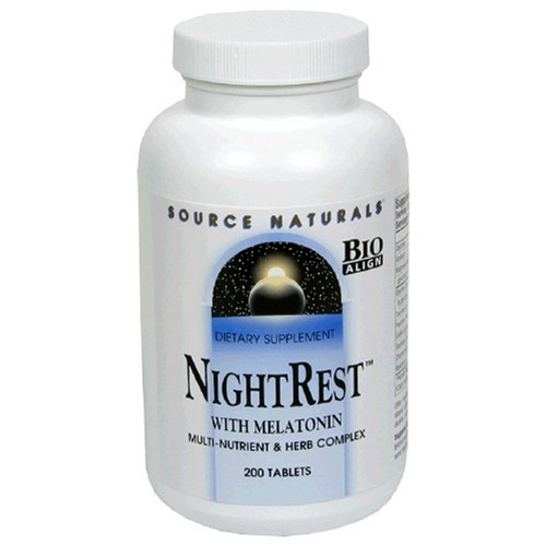Source Naturals NightRest with Melatonin, 200 Tablets, Health Care Stuffs