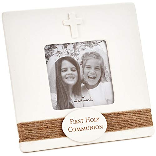 Hallmark First Holy Communion Picture Frame, 3x3 Picture Frames Religious,Milestones