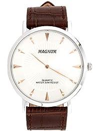 Relógio Masculino Magnum MA21900Q Prata/Marrom