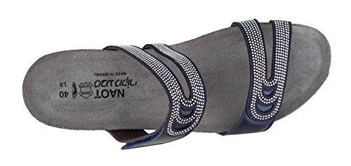 Rivets Naot Polar Nickel Sandals Ainsley Women's Leather Slide Sea In8Zddgx