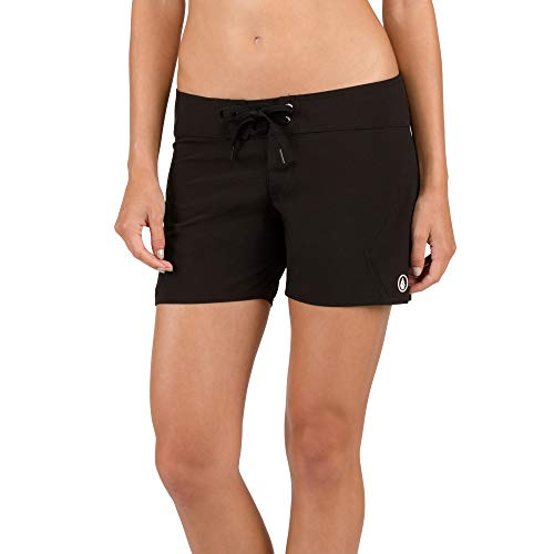 Volcom Women's Simply Solid 5 Inch Boardshort, Black, 11