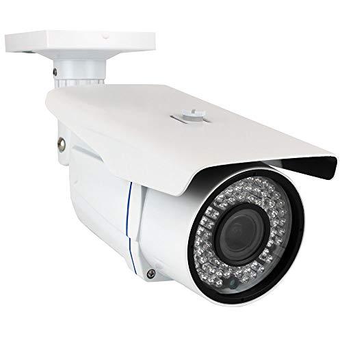 GW Security 8 Megapixel 4K (3840×2160) 2.8-12mm Varifocal Zoom Outdoor Weatherproof Onvif H.265 8MP Bullet PoE IP Camera, 196FT IR Night Vision