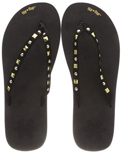Donna 0000 Infradito Fliprivet black Flip flop Nero tqUxg8