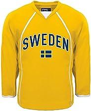 Sweden MyCountry Fan Hockey Jersey (Gold) - Large