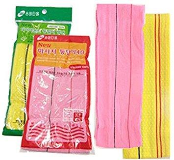 (Korea Long Italy Towel 2p Set Body Massage Big Wash Cloths Body Clean Scrubber)