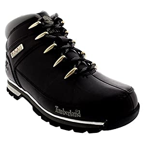 Mens Timberland Euro Sprint Hiker Casual Hiking Walking Ankle Boots - Black - 10.5