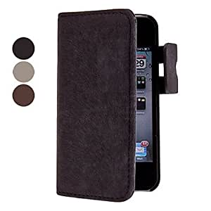 Refined Designed Microfiber Suede Full Body Case with Black Interior PC Cover for iPhone 4/4S (Assorted Colors) --- COLOR:Beige