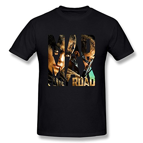 Mad Max Thunderdome Costume (AOPO Mad Max Fury Road O-Neck T-shirt For Men Medium Black)