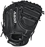 Wilson A600 Baseball Catcher Mitt, Right Hand Throw, 32.5'', Black