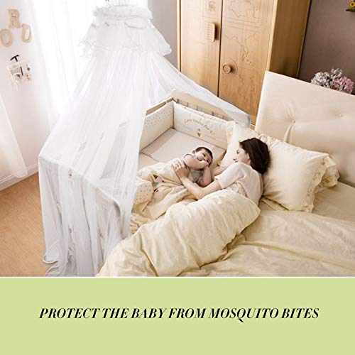 Baby Bedding Crib Mosquito Net Portable Size Round Toddler Mosquito Mesh Net