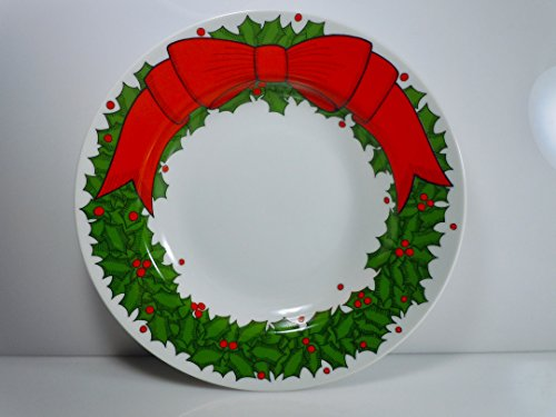 (Fitz and Floyd Holly Wreath Rimmed Soup Bowl 9)