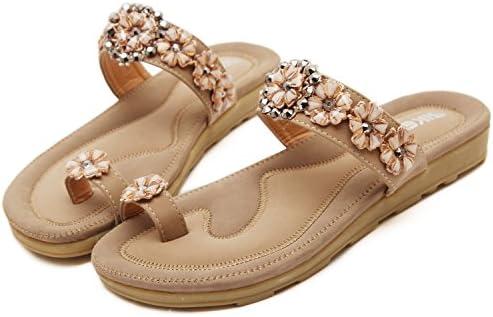 DQQ Womens Apricot Thong Flat Sandal 6.5 US