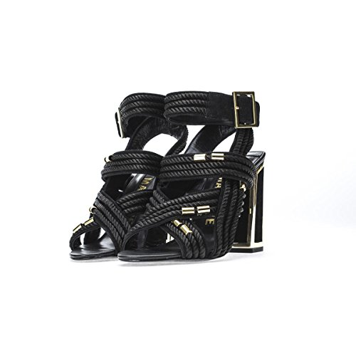 Kat Maconie Women's Shoes Arabella Black Ropes Heeled Sandal Spring Summer 2018 Czg05