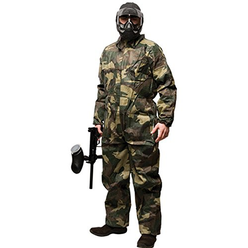 Disposable Paintball Coveralls / Jumpsuit - Camo - Medium