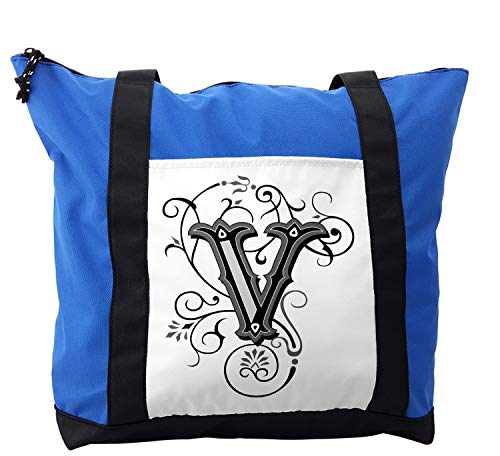 Ambesonne Shoulder Bag, Gothic Halloween Font, Durable with Zipper ()