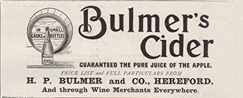 1898-print-ad-h-p-bulmers-cider-apple-alcoholic-drink-beverage-hereford