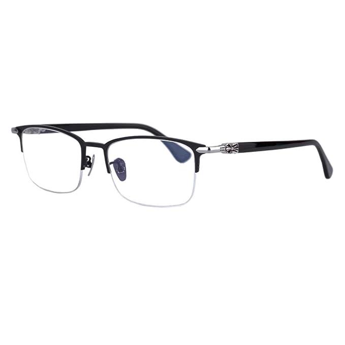 Eileen Elisa Pure Titanium anteojos de Negocios, Marco de anteojos de  anteojos, Lente Transparente, 48dcfbfe0a