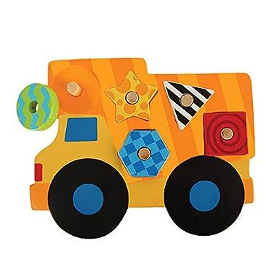 Stephen Joseph Shaped Wooden Peg Puzzle, Construction: Varios: Toys & Games
