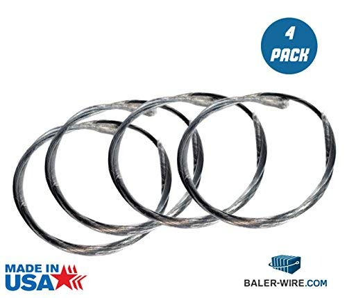 4 PACK - 14 Gauge x 14' Length Baler Wire (Bale Wire) 500 count