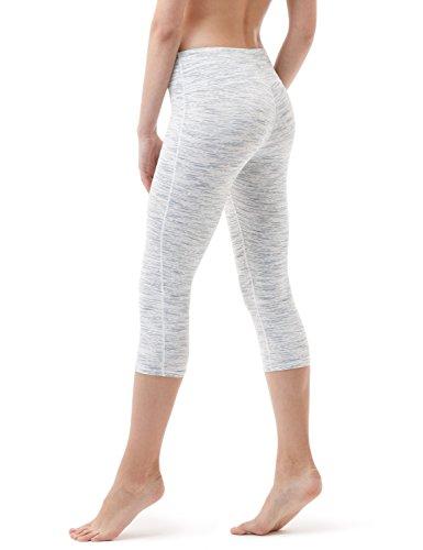 """Yoga Products : Tesla Yoga 17""""Capri Mid-Waist Pants w Hidden Pocket FYP21"""