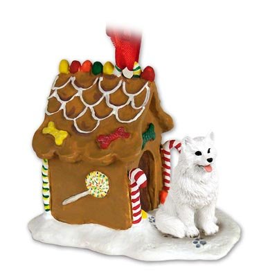 - Conversation Concepts American Eskimo Ginger Bread House Christmas Ornament
