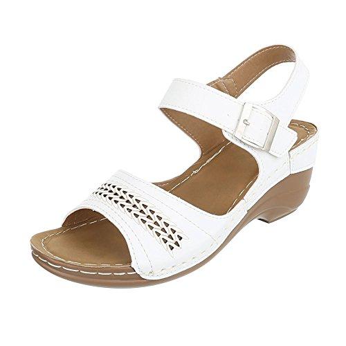 compensées femme Design Weiß chaussures Ital Ww4qTfgna