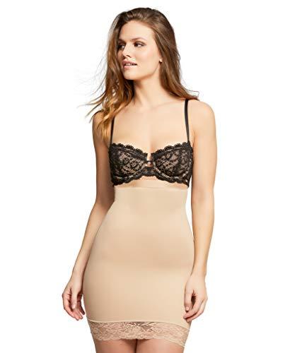 (HookedUp Women's Plus Size Shapewear Slip Strapless Shapewear High Waist Tummy Control Shaper Slip, Beige, XL)