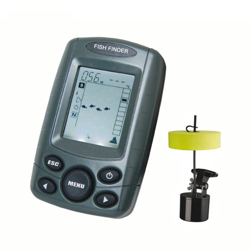 Portable Wired Fish Finder Fishfinder outdoor fishing boating Depth Reading From 2.0 to 328ft in 1/10th Precision F108