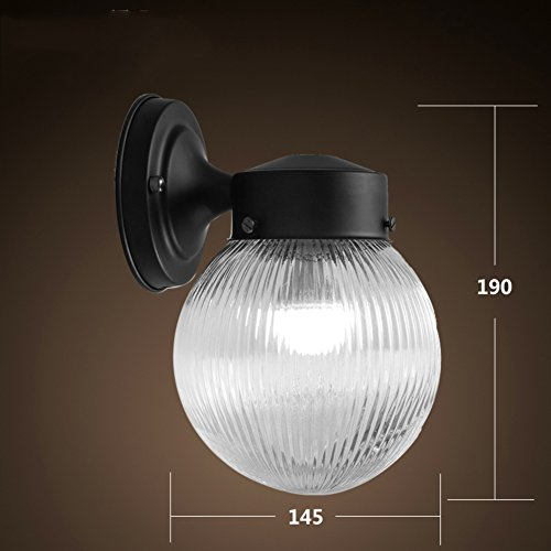 Retro Wall lamp sconce For bedroom,Led Modern Wall sconce lighting shade Glass Bedside lamp Mirror light [stairs] Aisle Restroom- 15x19cm(6x7inch) by AMYSTOREDREAM