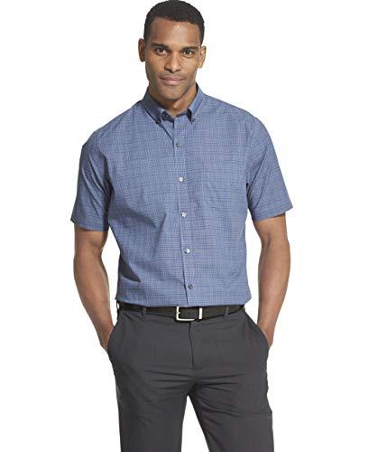 (Van Heusen Men's Flex Stretch Short Sleeve Non Iron Shirt, Blue Underground X-Large)