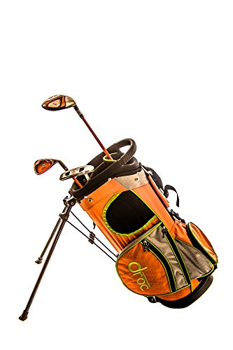 Droc - Mica Series 3 Pcs Golf Clubs Set & Golf Bag Age 3 - 6 Right Handed (Youth Golf Cart)