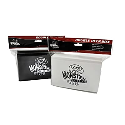 Monster Protectors Trading Card Double Deck Box with Magnetic Closure - White (Fits Yugioh, Pokemon, Magic the Gathering Cards): Toys & Games