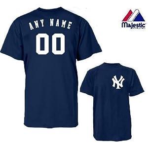 timeless design e4d44 1fb5f Amazon.com : Youth Small New York Yankees BLANK BACK Major ...