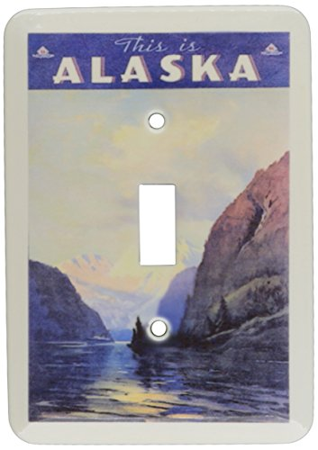 3dRose lsp_119289_1 Alaska Vintage Travel Poster Single Toggle Switch by 3dRose