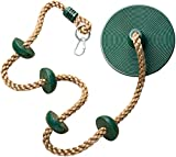 Jungle Gym Kingdom Climbing Rope with Platforms and Disc Swing Seat Green - Playground Accessories