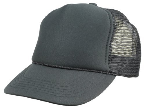 DALIX Kids Trucker Cap Mesh Hat Childrens Baseball Cap Black at ... 88359370938