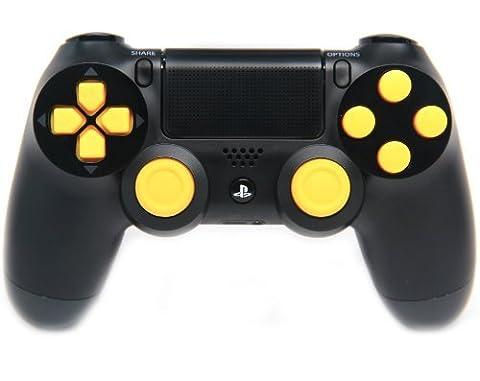 Black/Yellow Ps4 Rapid Fire Custom Modded Controller 35 Mods COD BO2, BO3, Advanced Warfare, Destiny, Ghosts Quick Scope Auto Run Sniper Breath and (Bo2 Ps4)