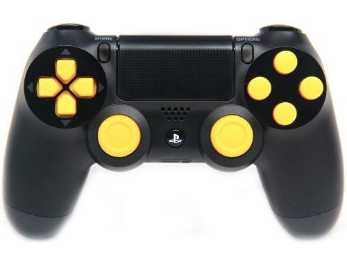 Black/Yellow Ps4 Rapid Fire Custom Modded Controller 35 Mods COD BO2, BO3, Advanced Warfare, Destiny, Ghosts Quick Scope Auto Run Sniper Breath and More